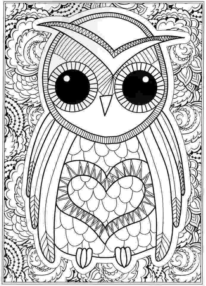 print owl pictures owl coloring pages for adults free detailed owl coloring print owl pictures