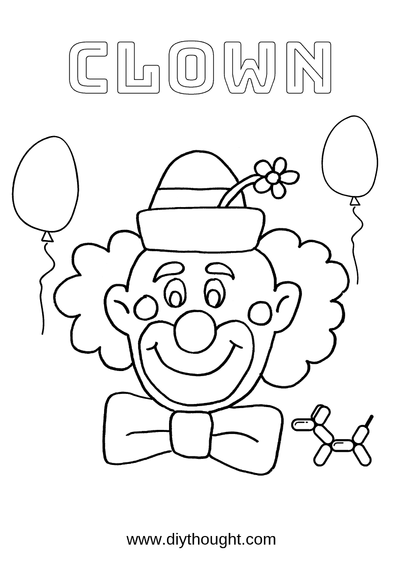 printable clown pictures 5 free fun clown printables diy thought pictures clown printable