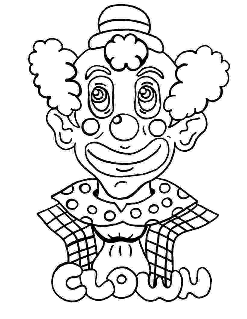 printable clown pictures free printable clown coloring pages for kids printable clown pictures