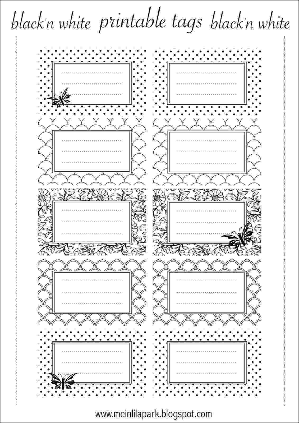 printable coloring nameplates free printable tags black and white ausdruckbare printable coloring nameplates