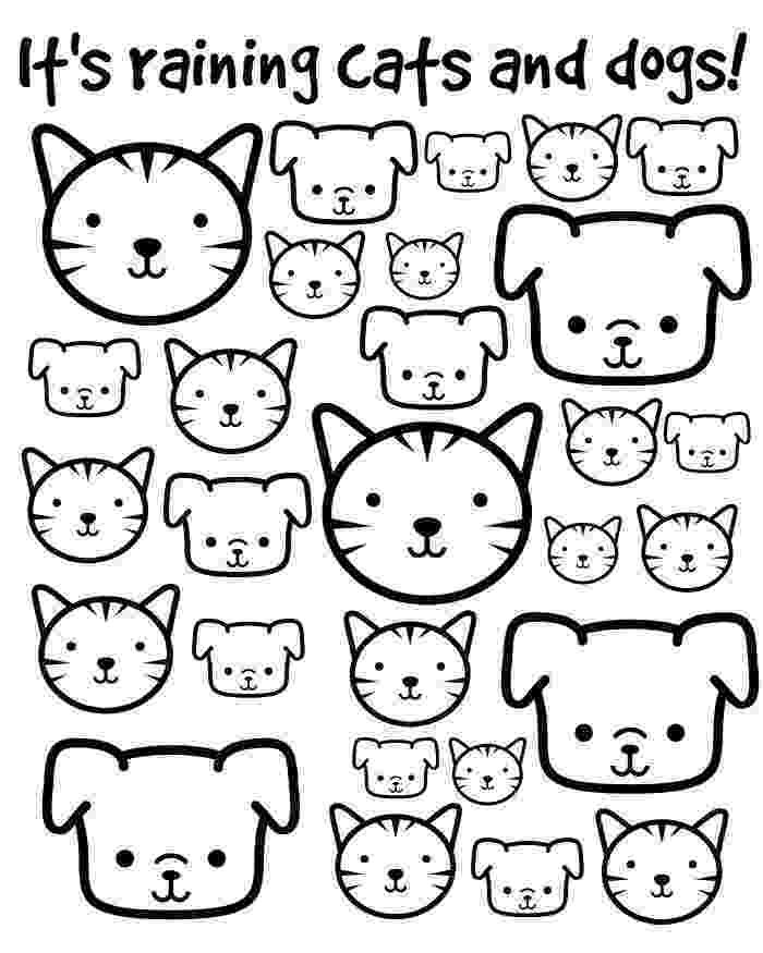 printable coloring pages cats and dogs cat and dog coloring pages dogs printable pages cats and coloring