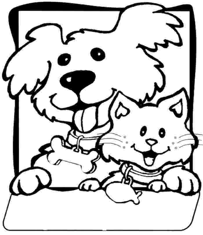 printable coloring pages cats and dogs cats and dogs drawing at getdrawingscom free for and coloring dogs cats printable pages