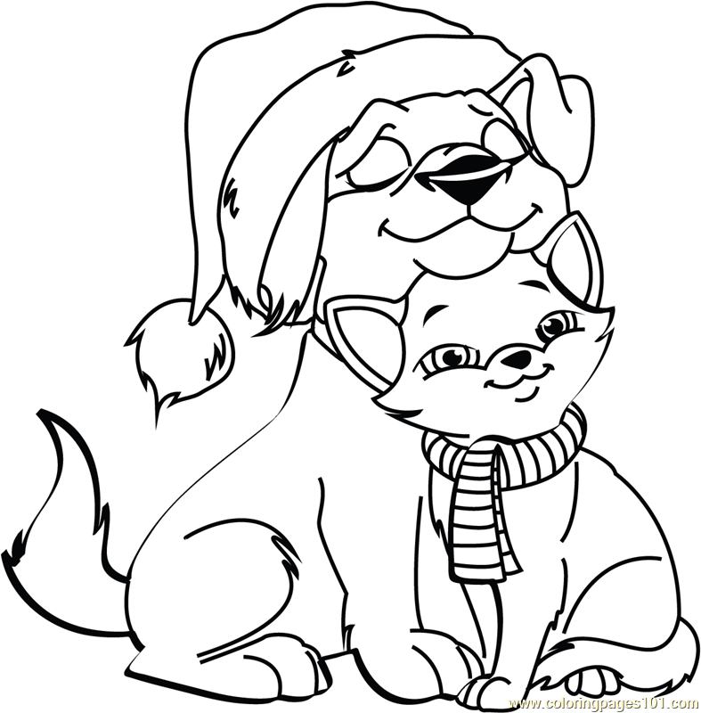 printable coloring pages cats and dogs kitty cat coloring pages image detail for cat coloring cats pages coloring dogs and printable