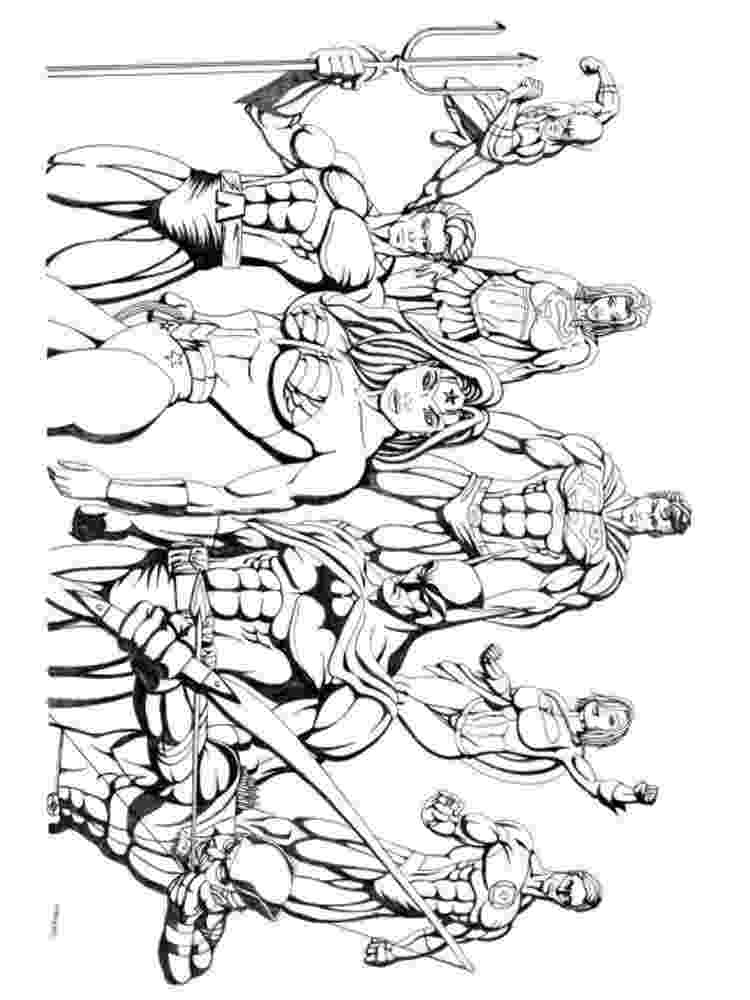 printable coloring pages justice league justice league coloring pages kidsuki league justice pages coloring printable