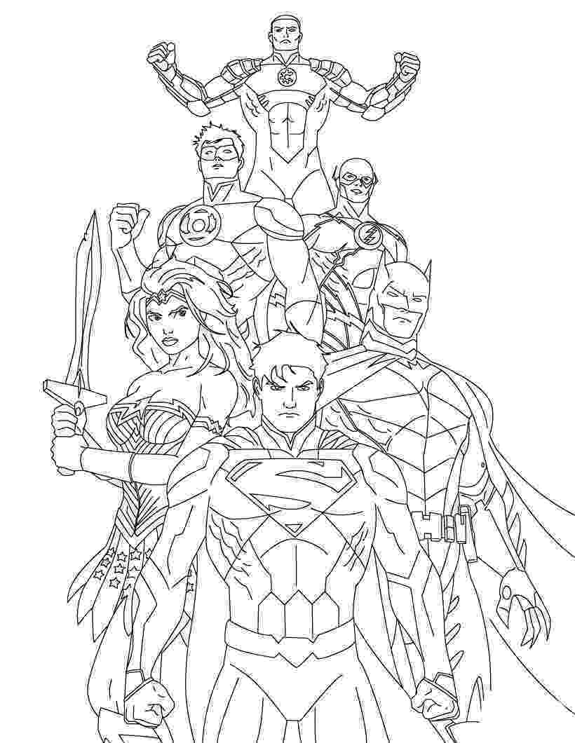 printable coloring pages justice league origins of the justice league coloring page netart justice league coloring printable pages