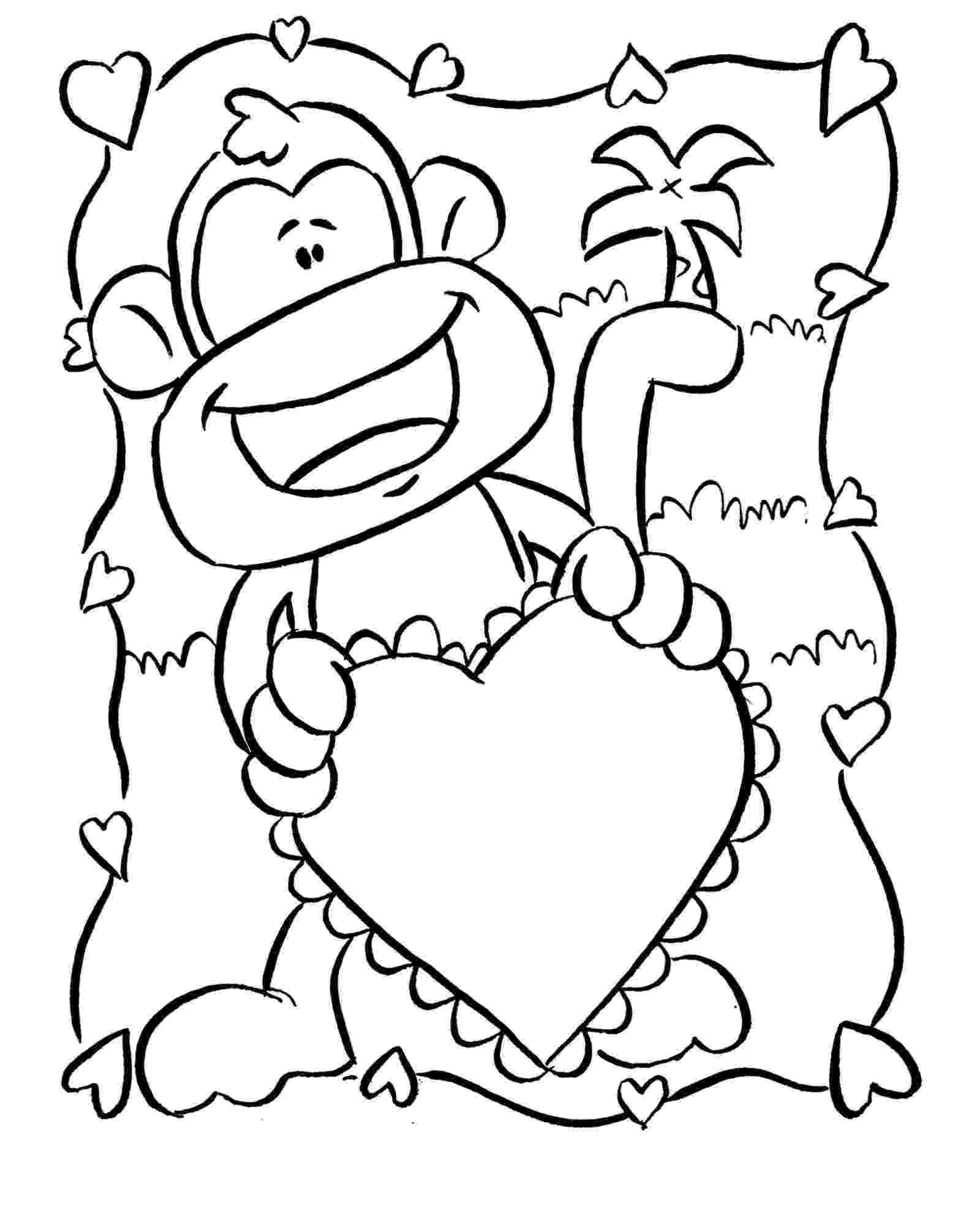 printable coloring pages monkeys colouring monkey clipart best printable monkeys pages coloring