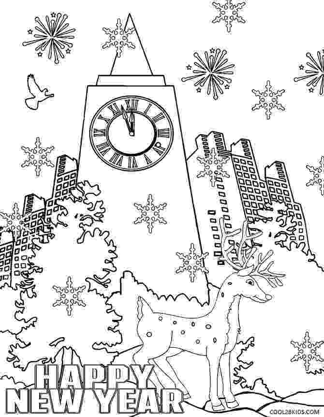 printable coloring pages new years eve free new year39s eve coloring pages printable worksheets printable coloring eve new pages years