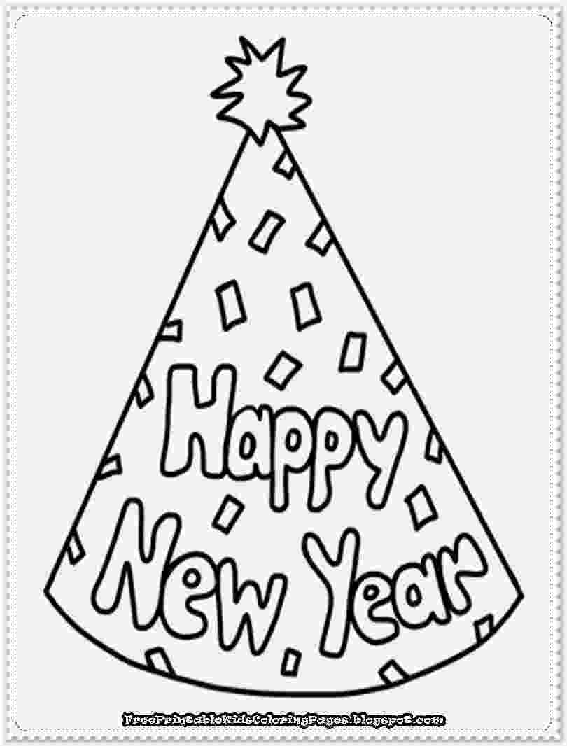 printable coloring pages new years eve happy new year coloring pages free printable paper trail pages eve printable new coloring years