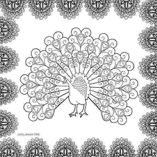 printable coloring pages peacock peacock coloring pages 360coloringpages pages peacock coloring printable