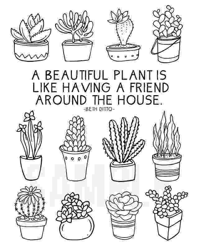 printable coloring pages plants coloring sheet for plant lovers live laugh rowe coloring plants pages printable