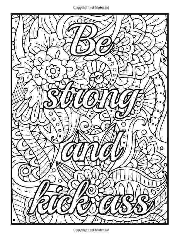 printable coloring quote pages for adults amazoncom be fcking awesome and color an adult printable adults coloring pages quote for