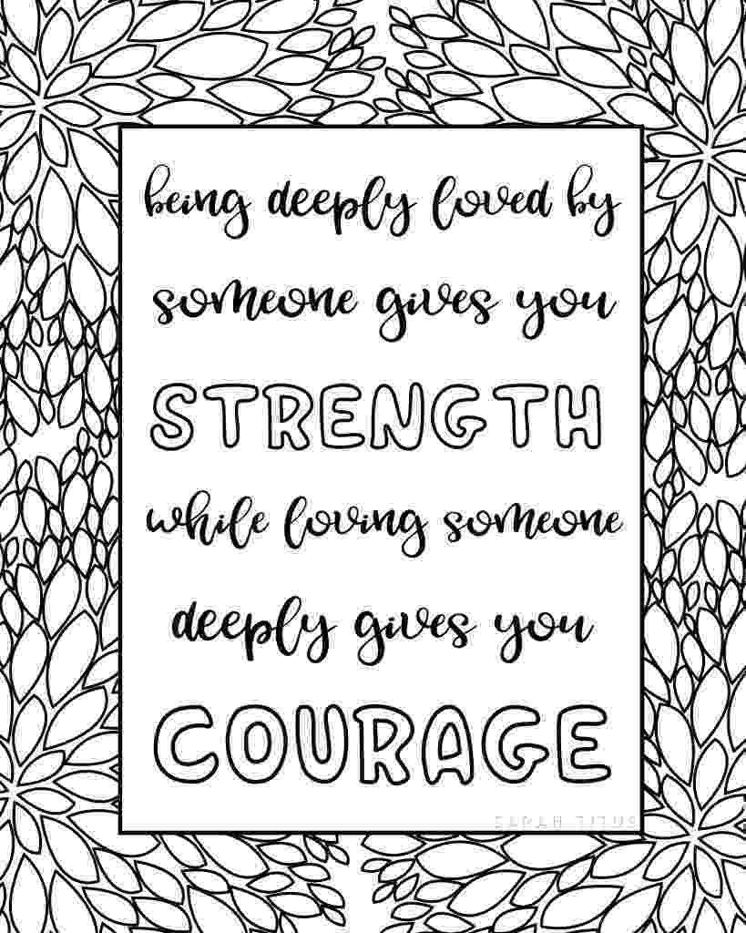 printable coloring quote pages for adults free inspirational adult coloring pages quote coloring pages adults printable for