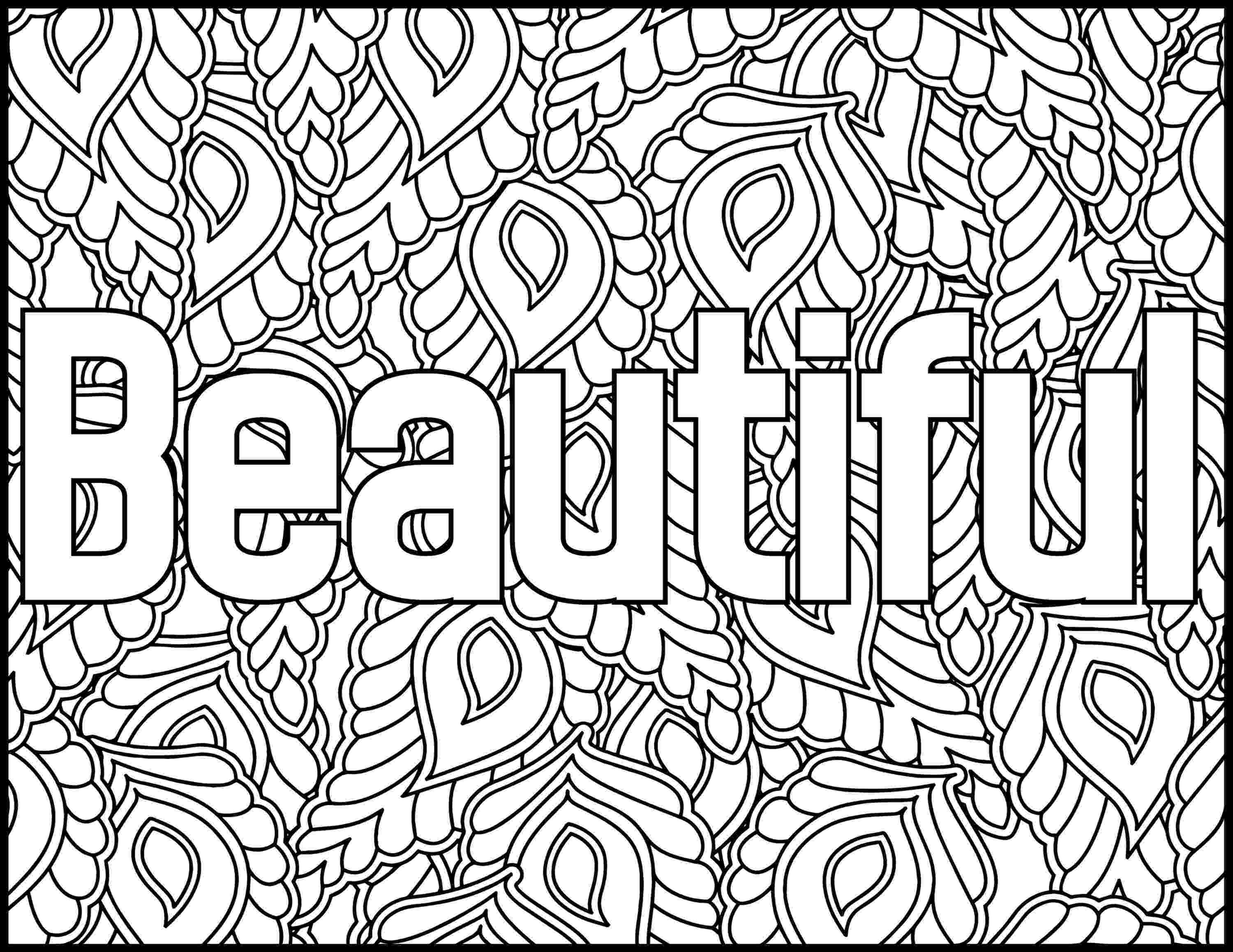 printable coloring quote pages for adults positive affirmations coloring pages for adults beautiful for adults printable pages quote coloring