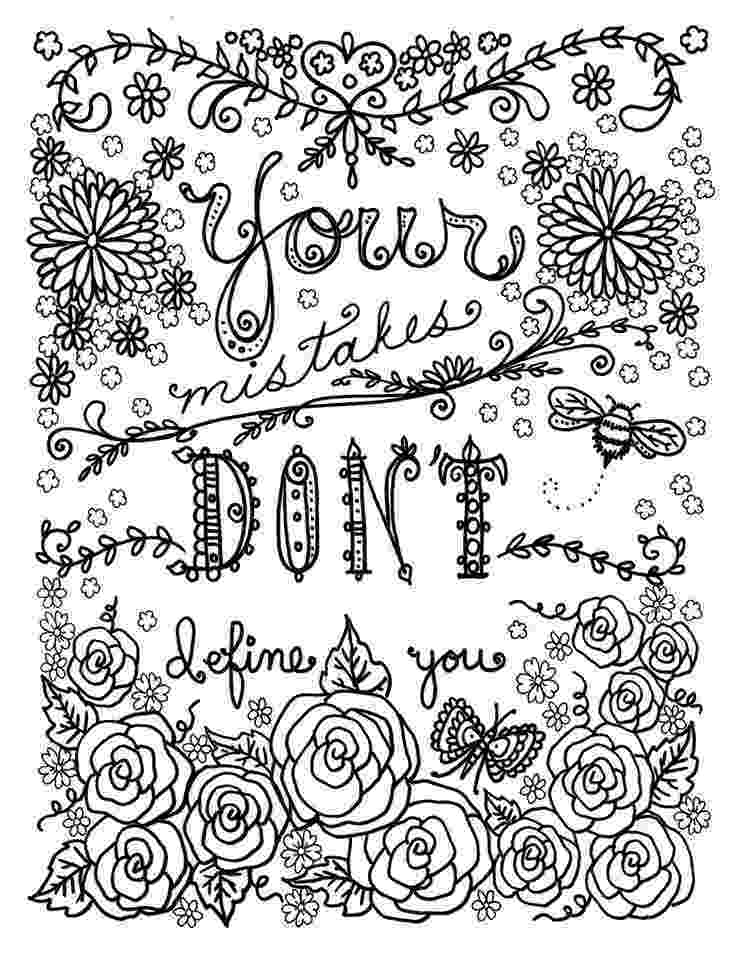 printable coloring quote pages for adults quote coloring pages for adults and teens best coloring pages quote printable adults coloring for