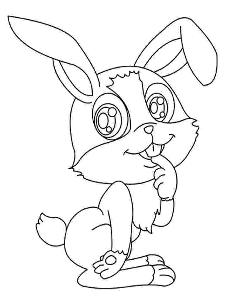 printable coloring rabbit free printable pictures of rabbits clipart best rabbit printable coloring