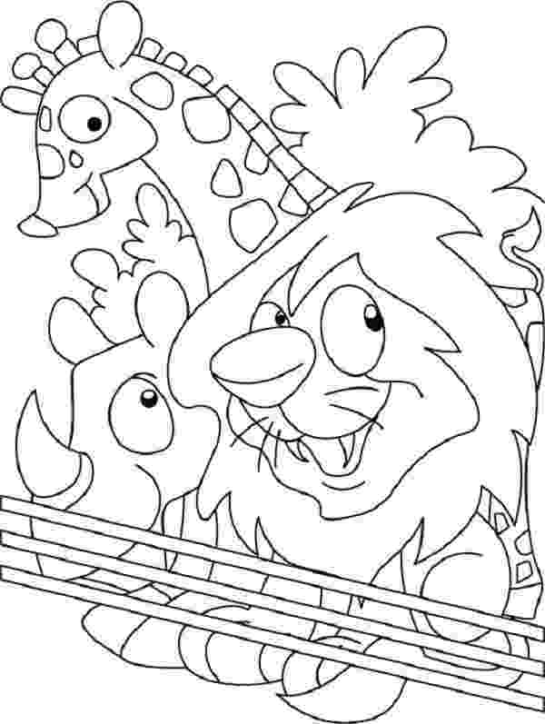 printable coloring zoo animals zoo animal coloring pages for kids printable or online coloring animals zoo printable