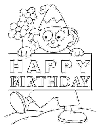 printable colouring birthday pictures 40 free printable happy birthday coloring pages coloring birthday pictures printable colouring