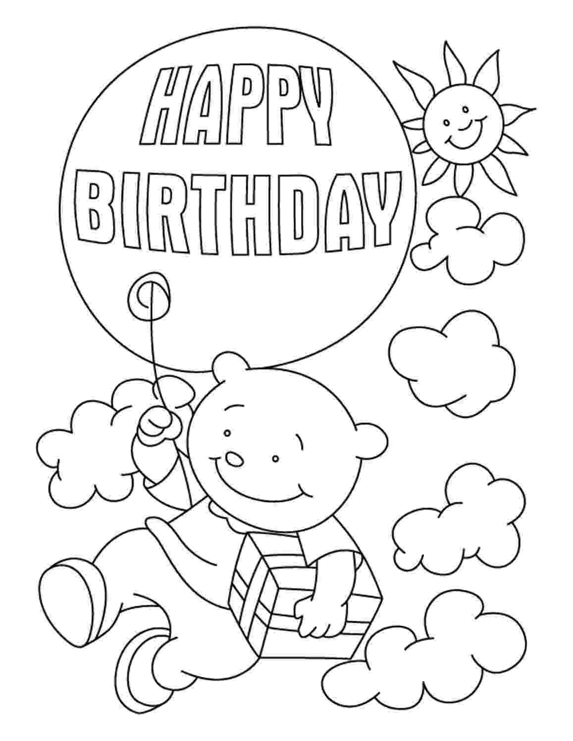printable colouring birthday pictures free printable birthday cake coloring pages for kids pictures birthday colouring printable 1 1