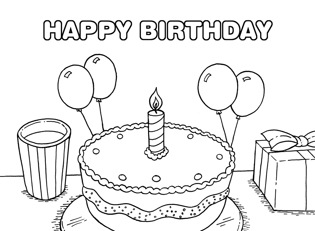 printable colouring birthday pictures happy birthday coloring pages 360coloringpages colouring birthday pictures printable