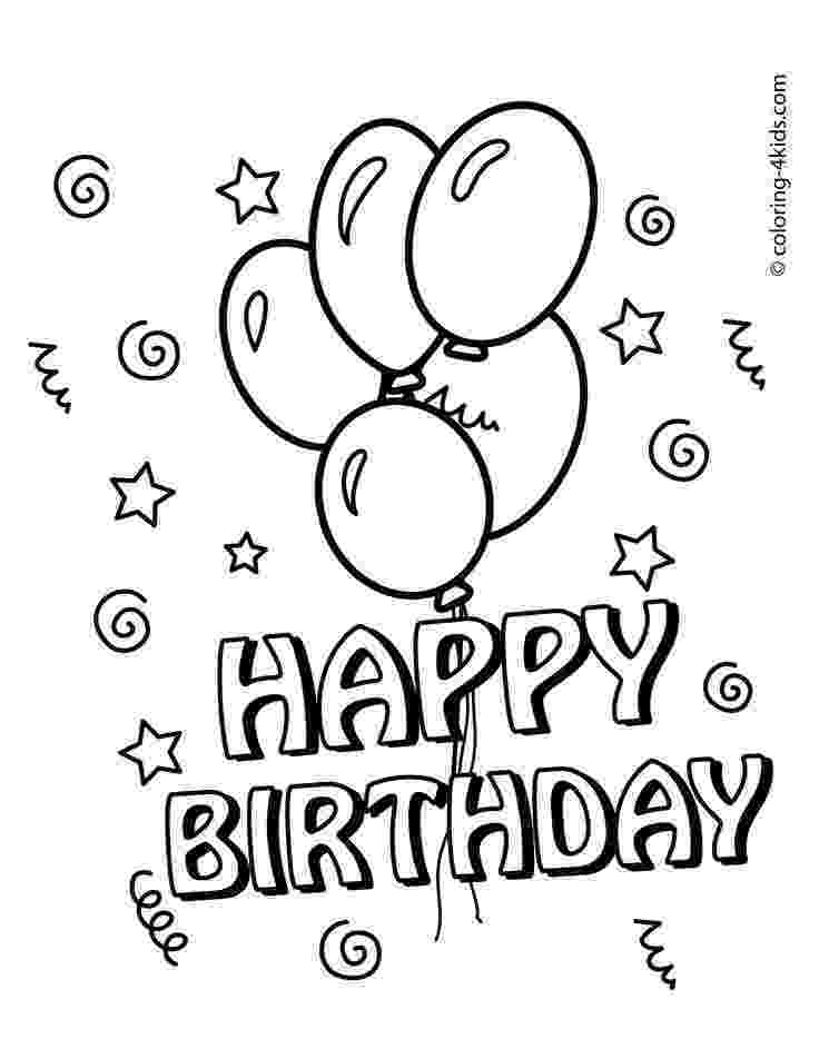 printable colouring birthday pictures happy birthday coloring pages for kids 05 bday pictures printable colouring birthday