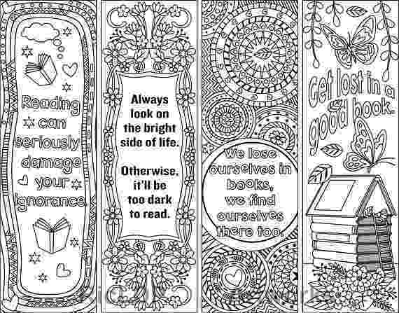 printable colouring bookmarks 8 coloring bookmarks with feel good quotes printable coloring colouring printable bookmarks
