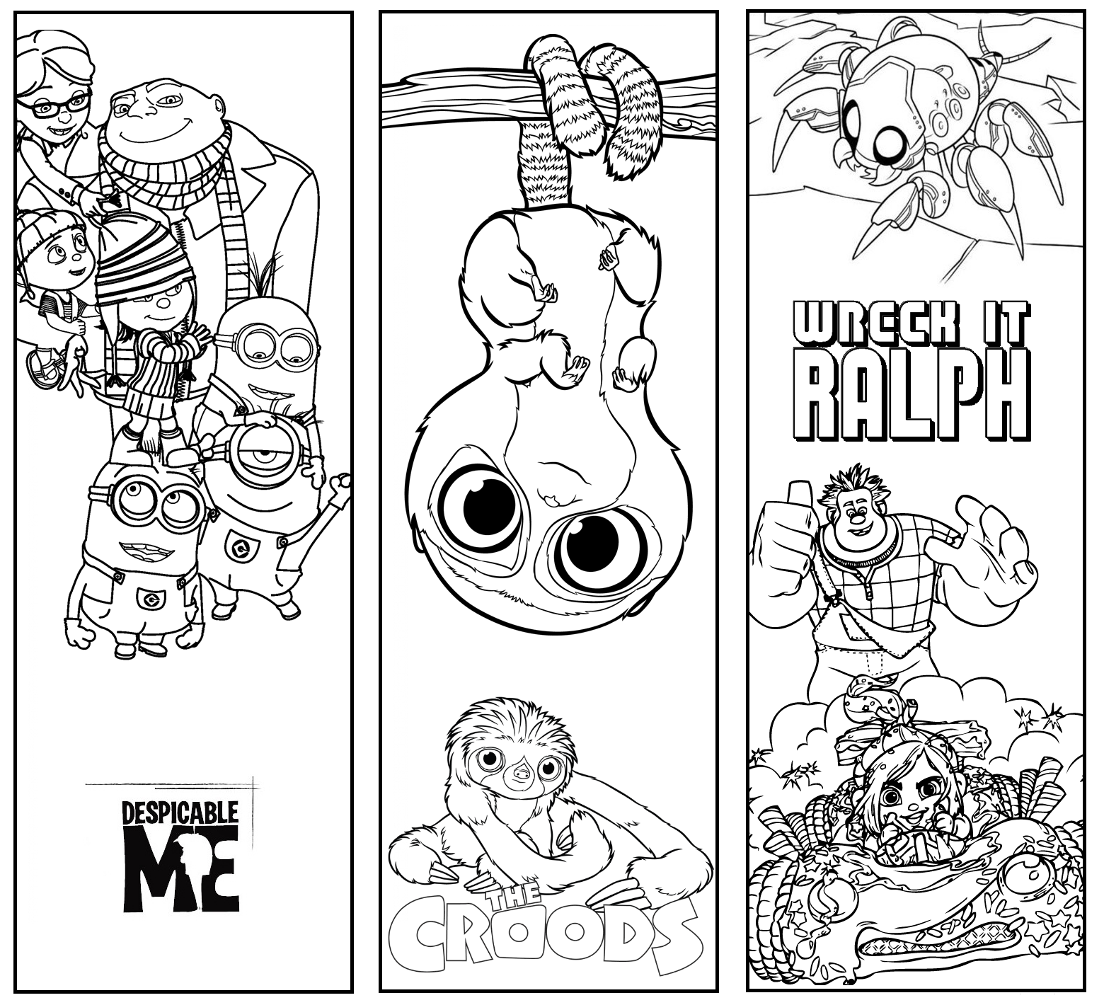 printable colouring bookmarks diy bookmarks printable coloring page instant download colouring printable bookmarks
