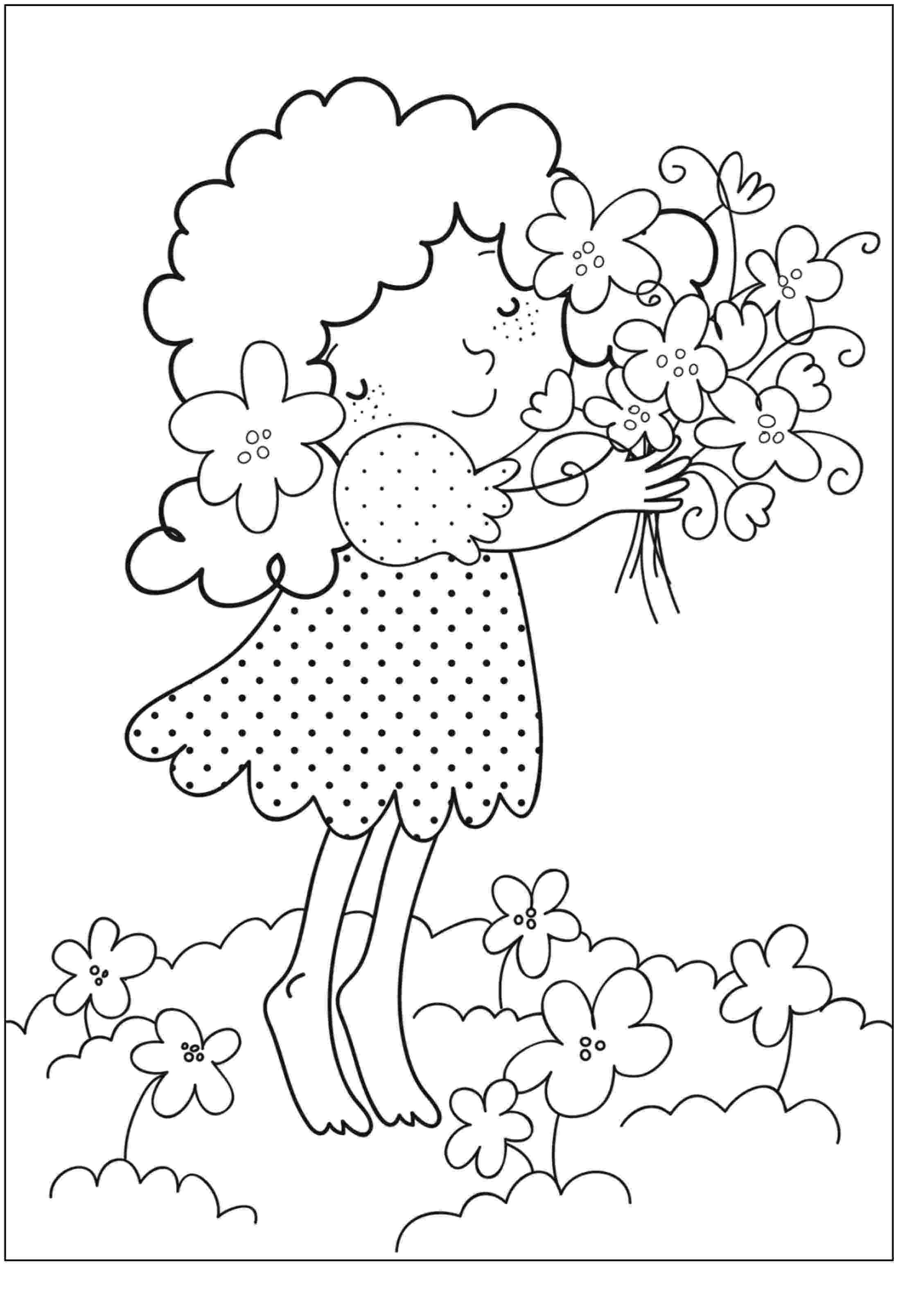 printable colouring flower pages free printable flower coloring pages for kids best pages colouring printable flower