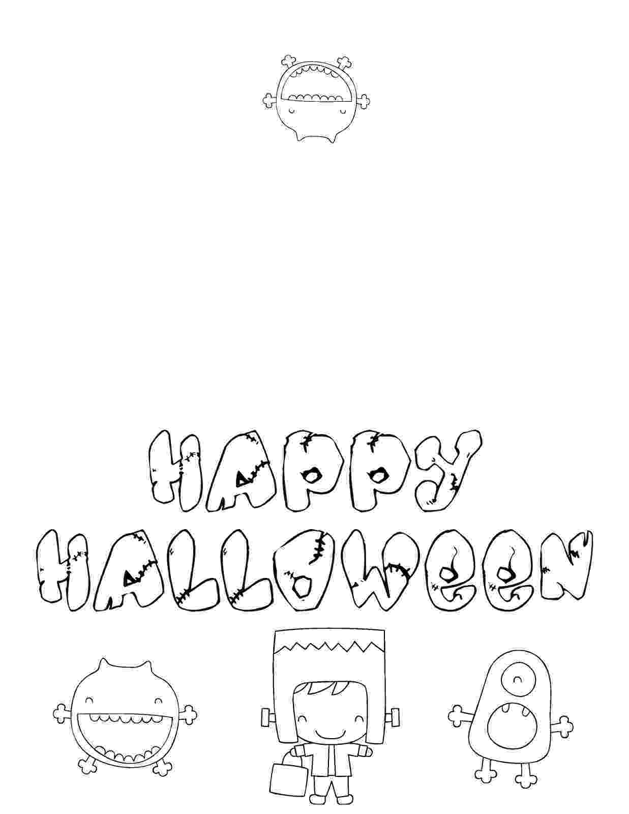 printable colouring halloween cards free printable halloween coloring cards cards create and printable cards halloween colouring 1 1