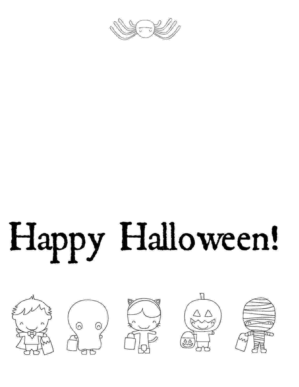 printable colouring halloween cards musings of an average mom free halloween cards to color printable halloween cards colouring