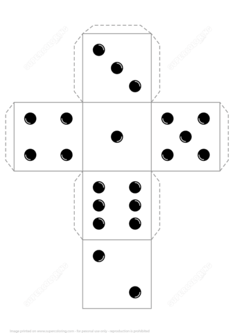 printable dice printable paper dice template pdf make your own 6 10 dice printable