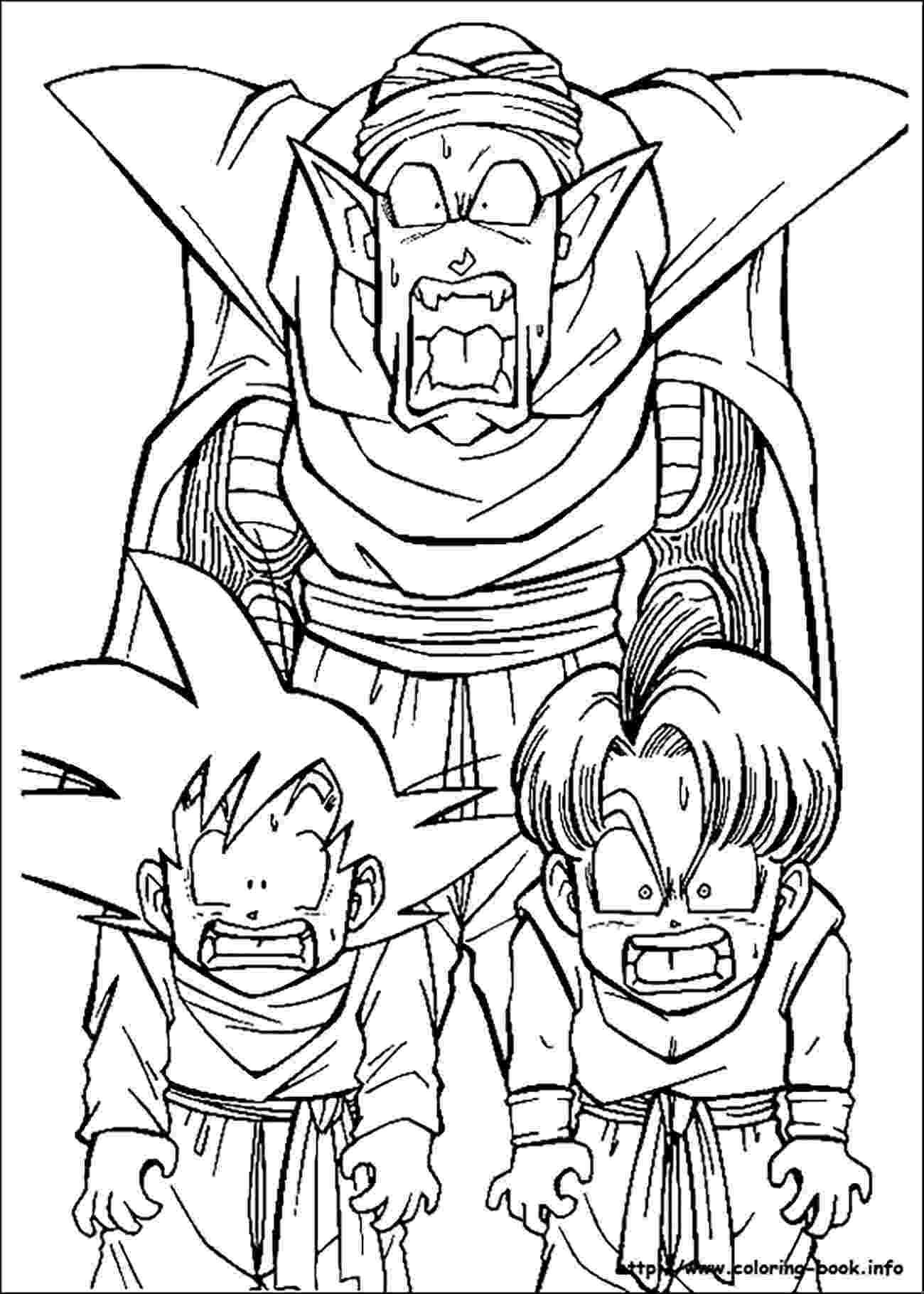 printable dragon ball z coloring pages black goku trunks and zamasu dragon ball z kids dragon z printable ball coloring pages
