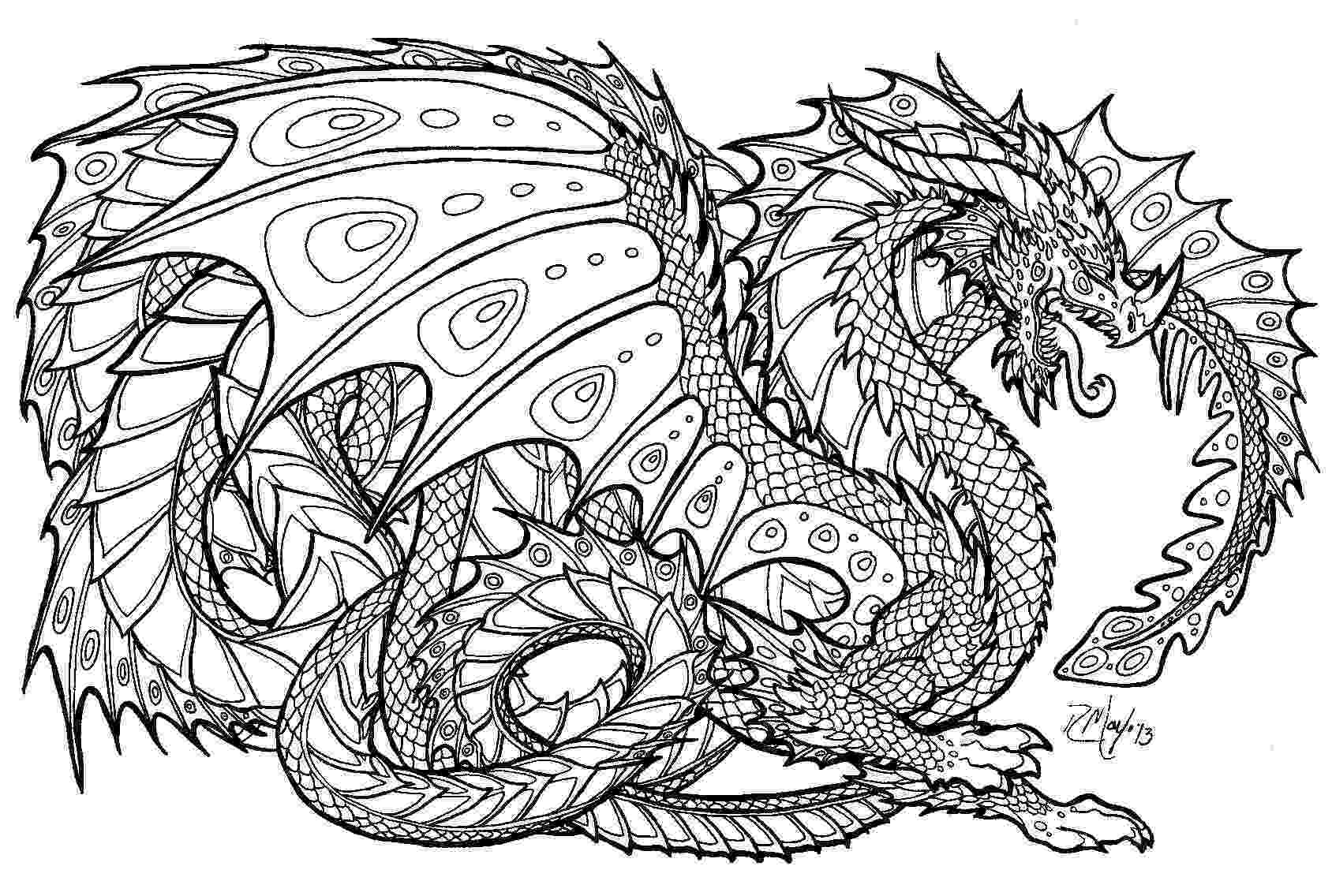 printable dragon pictures free printable coloring pages for adults advanced dragons printable dragon pictures