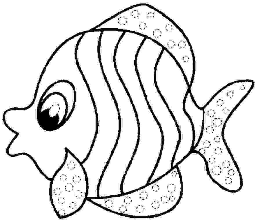 printable fish free printable fish coloring pages for kids tiger cub fish printable