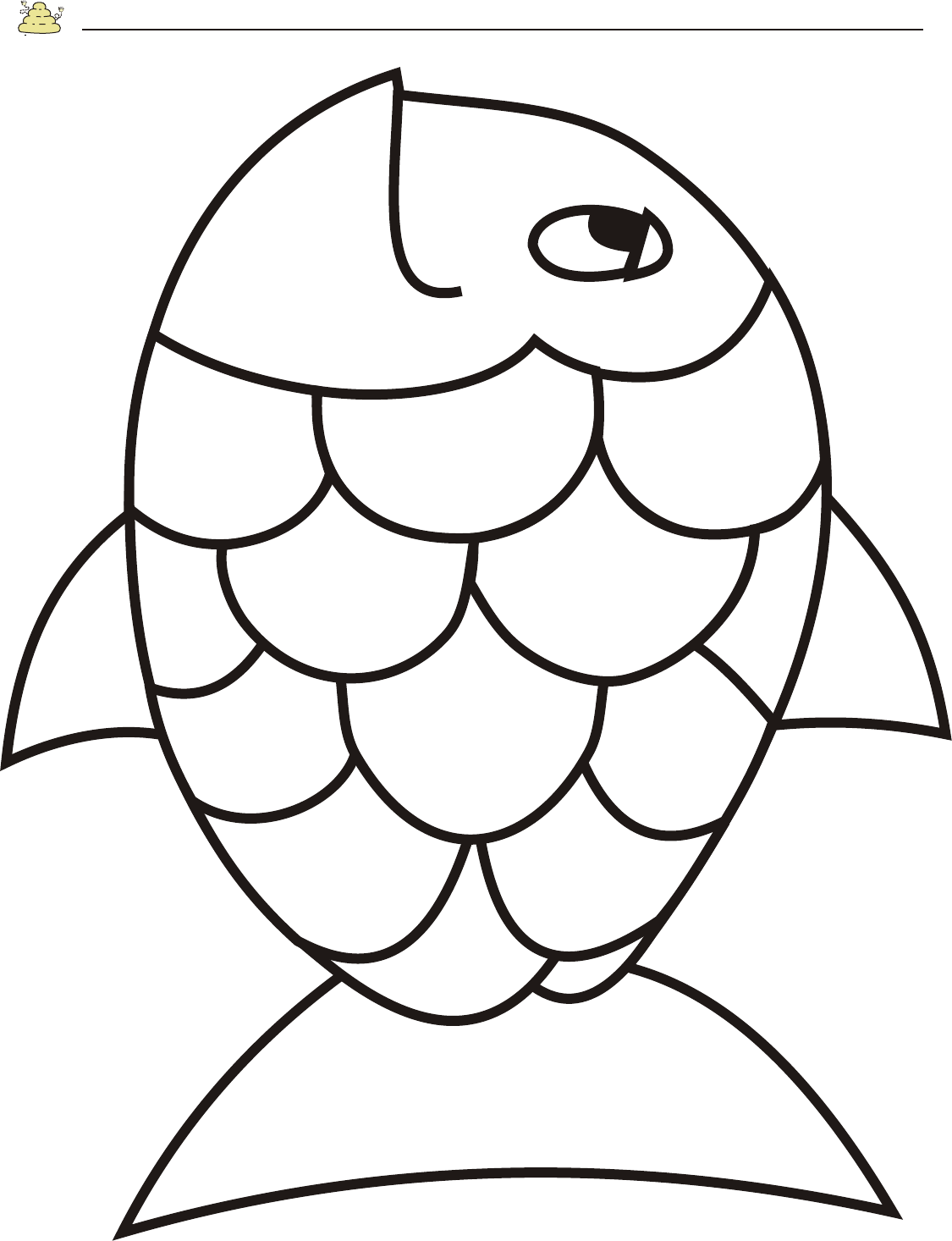 printable fish free rainbow fish template pdf 2 pages page 2 fish printable