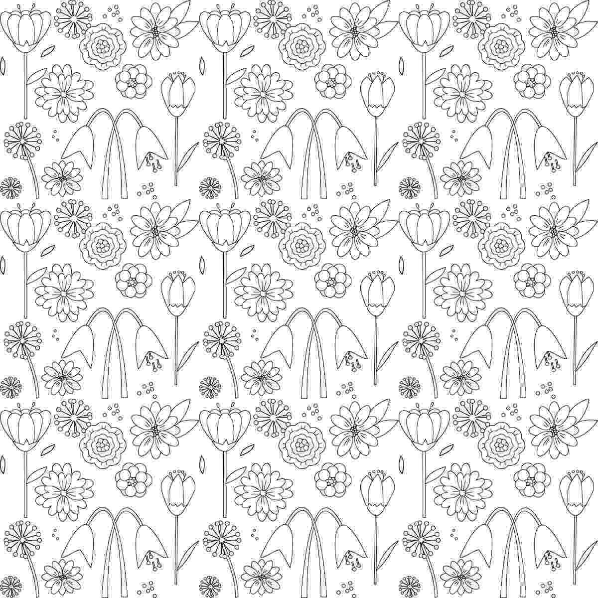 printable flower patterns to color flower page printable coloring sheets pages tender flower to printable patterns color