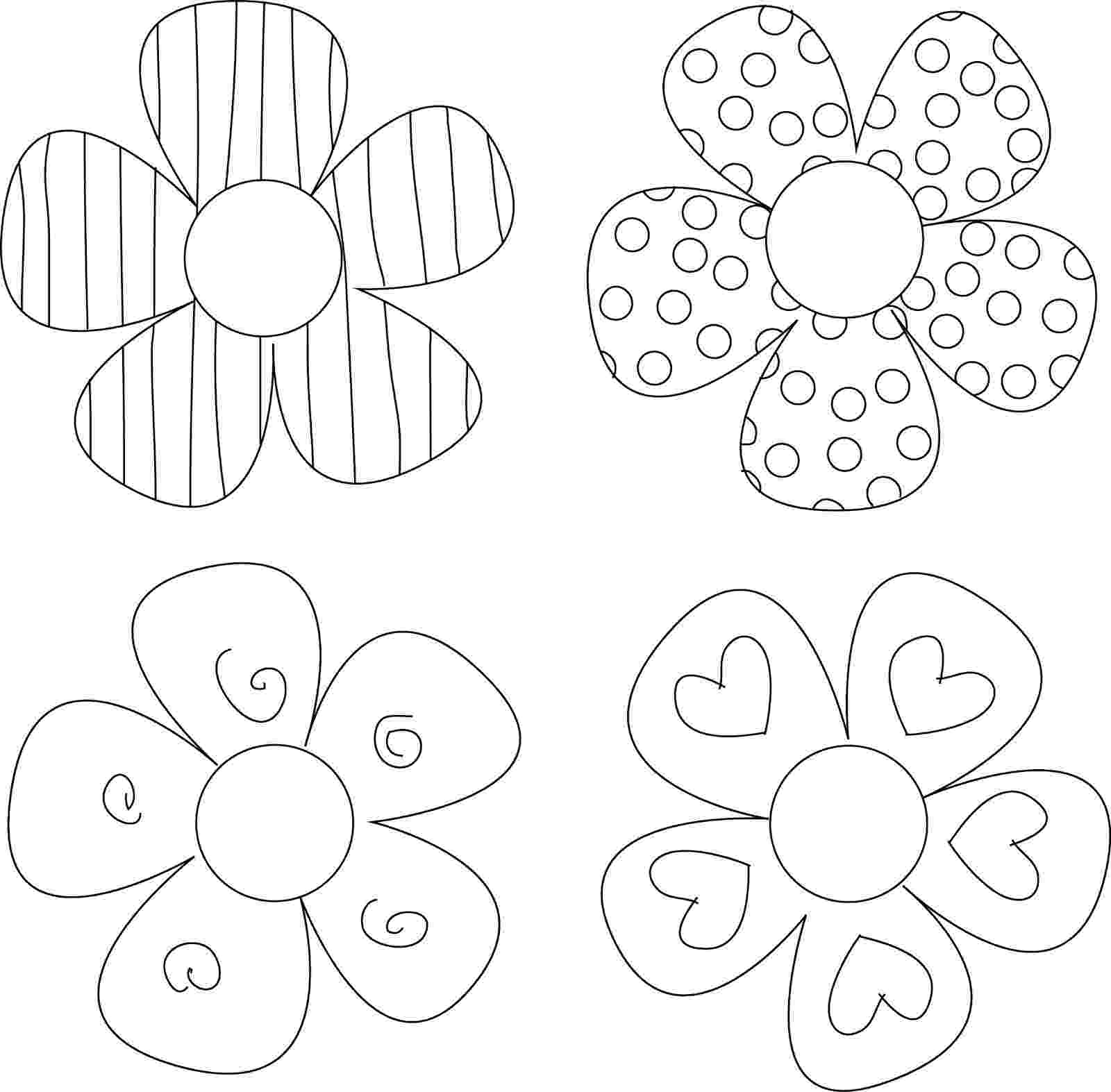 printable flower patterns to color flower pattern coloring page free printable coloring pages to patterns flower printable color