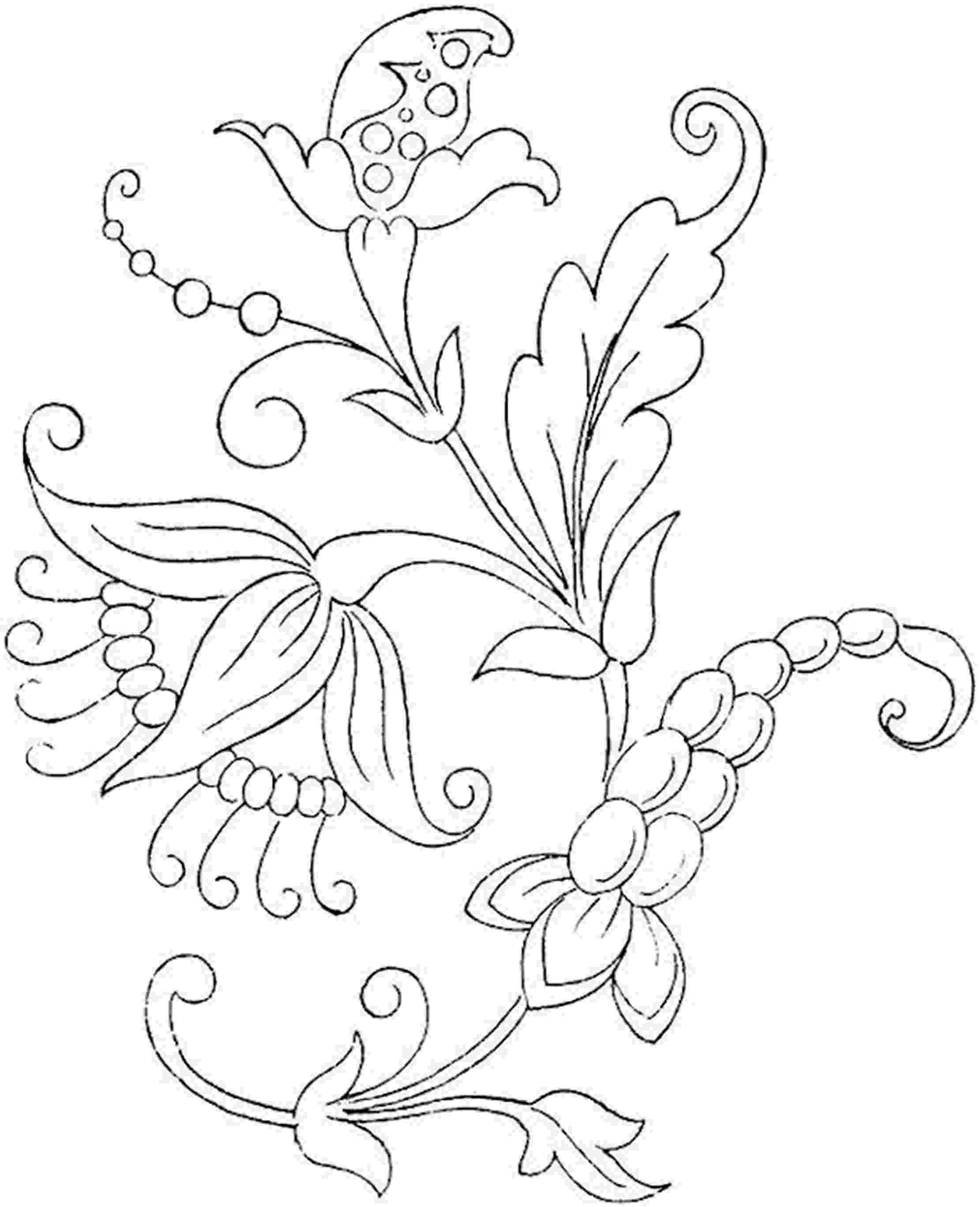 printable flower patterns to color free printable flower coloring pages for kids best flower to color patterns printable
