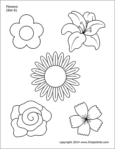 printable flower patterns to color free printable flower pictures to color crafts printable color to patterns flower