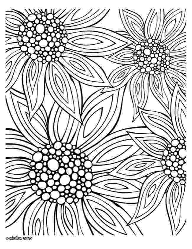 printable flower patterns to color spring flower coloring pages collections 2010 color to printable patterns flower