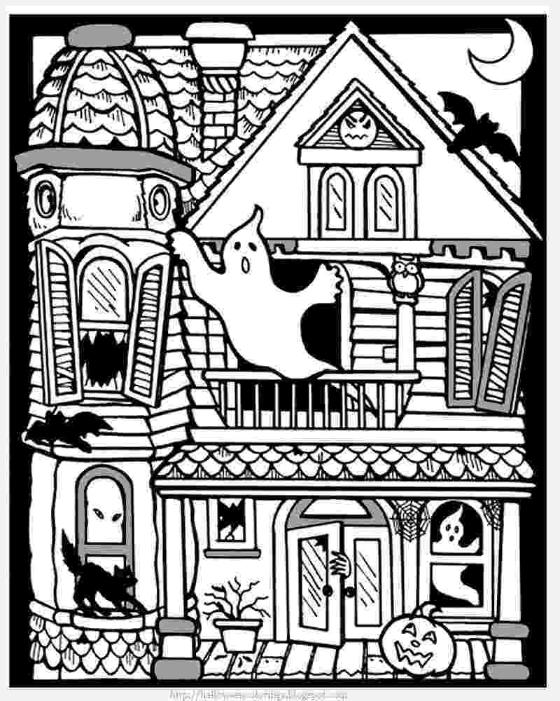 printable haunted house coloring pages halloween haunted house coloring pages getcoloringpagescom haunted printable house pages coloring
