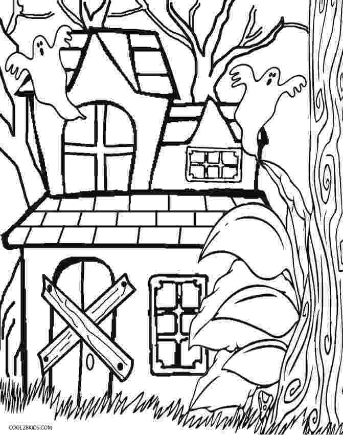 printable haunted house coloring pages printable halloween coloring pages printable halloween coloring pages printable haunted house