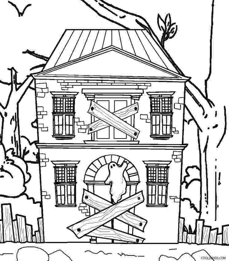 printable haunted house coloring pages printable haunted house coloring pages for kids cool2bkids coloring haunted printable pages house