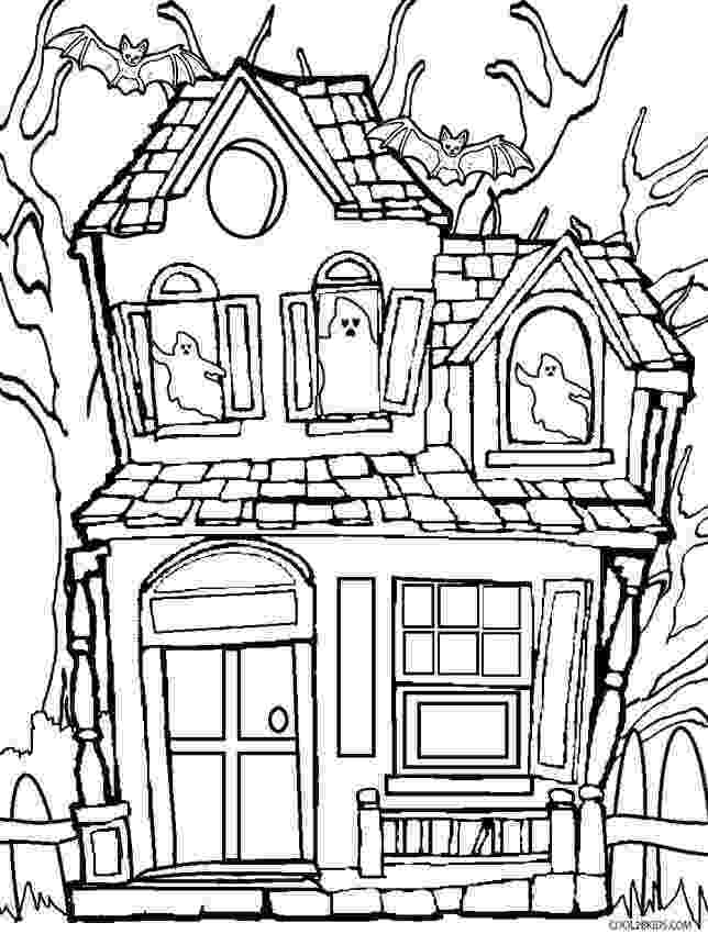 printable haunted house coloring pages printable haunted house coloring pages for kids cool2bkids pages haunted coloring house printable