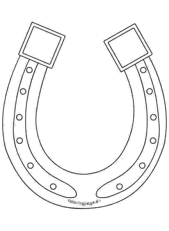 printable horseshoe template horseshoe template for kids to decorate printable treatscom printable horseshoe template