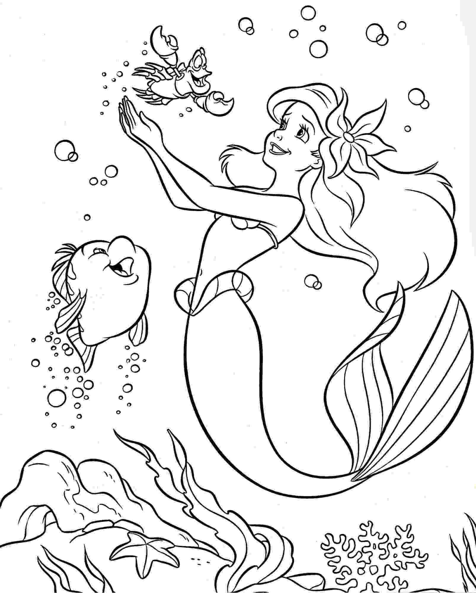 printable little mermaid free printable little mermaid coloring pages for kids little mermaid printable