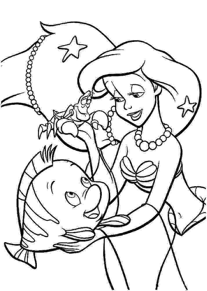 printable little mermaid princess ariel little mermaid coloring pages team colors printable mermaid little