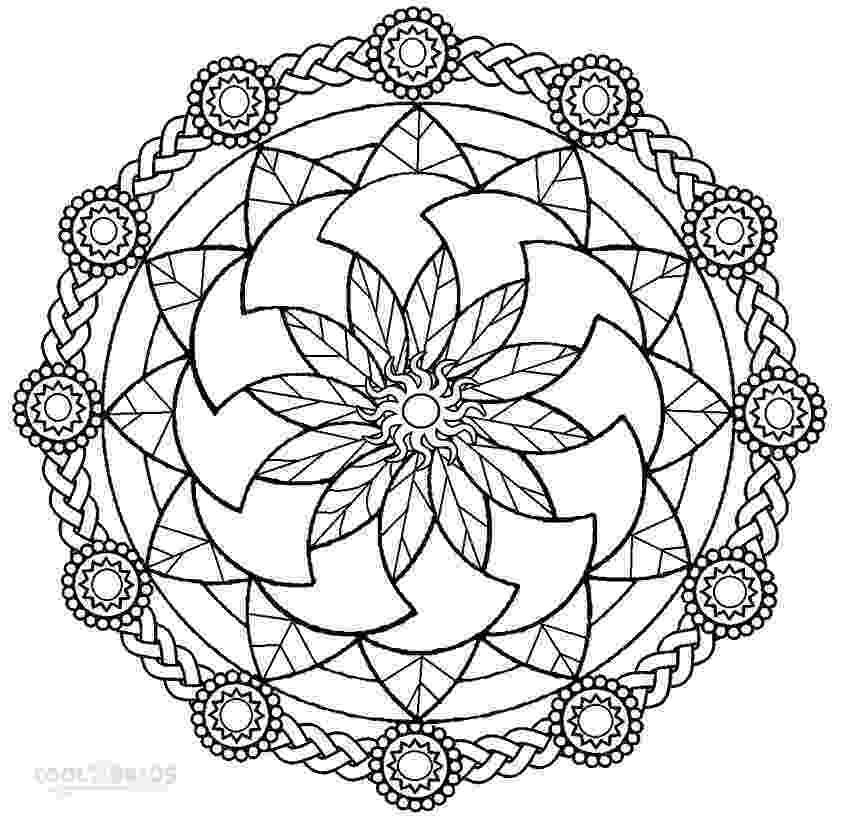 printable mandala coloring pages for adults abstract mandala coloring page for adults digital download for printable mandala adults pages coloring