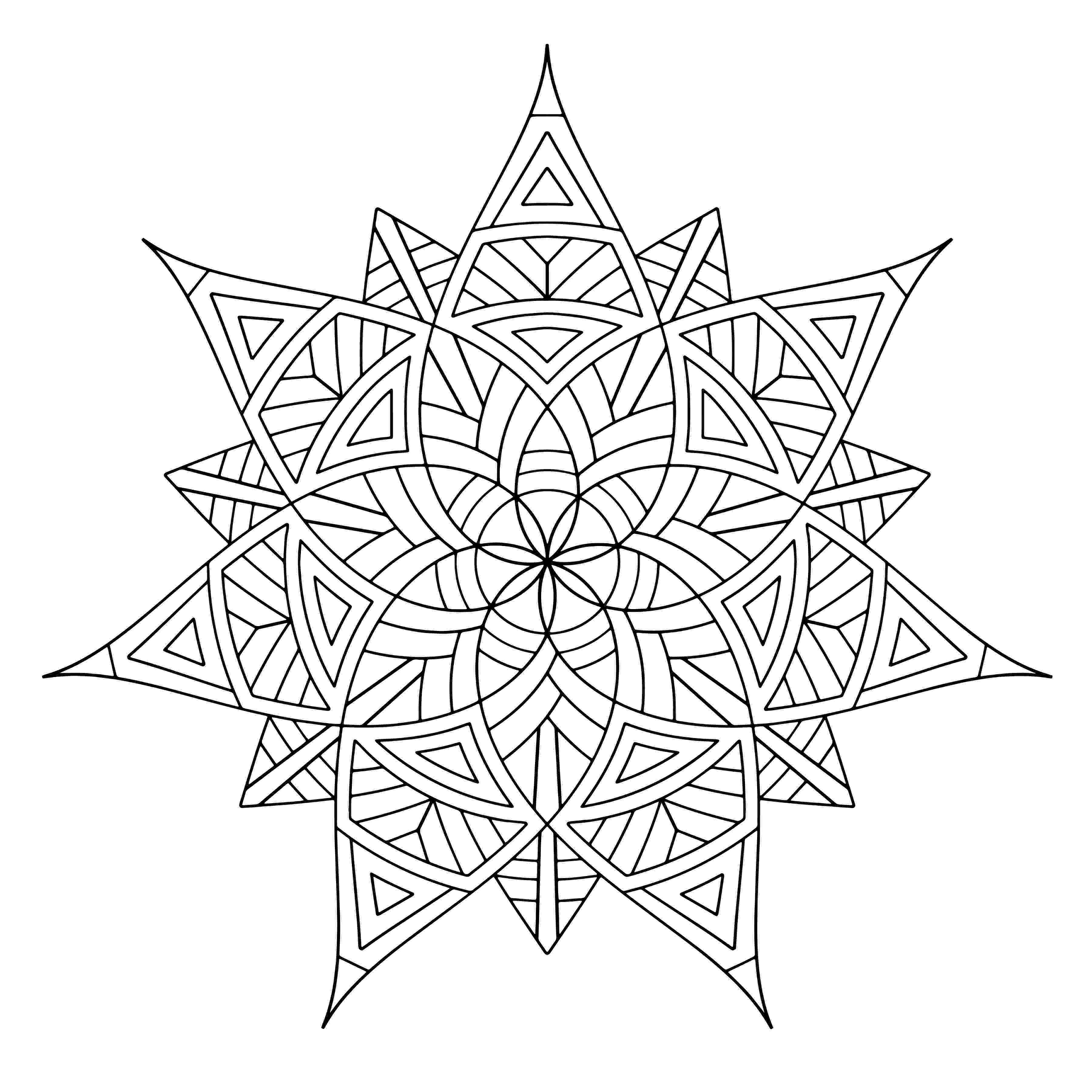 printable mandala coloring pages for adults free printable geometric coloring pages for adults printable pages for coloring mandala adults