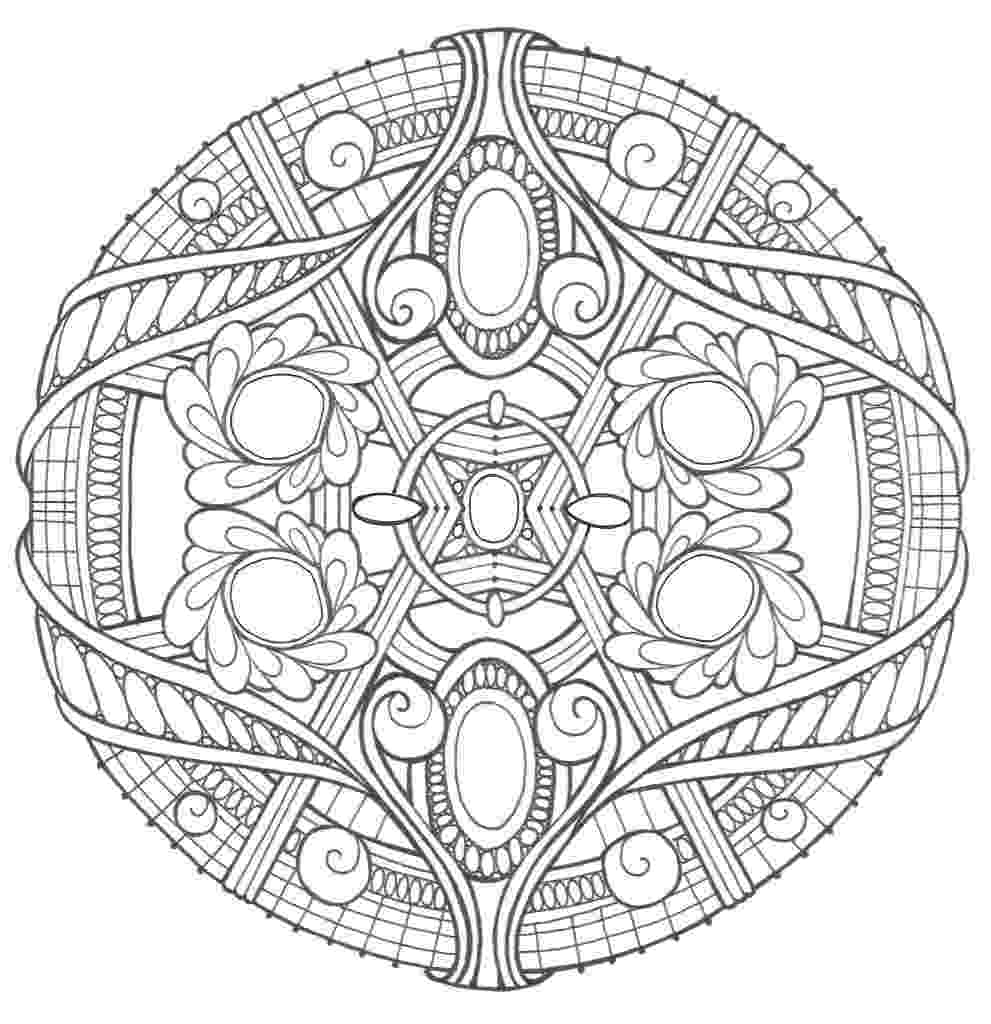 printable mandala coloring pages for adults opal palace mandala coloring page favecraftscom mandala pages for coloring printable adults