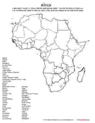 printable map of africa africa mapping activity printable worksheet 5th 12th africa printable map of